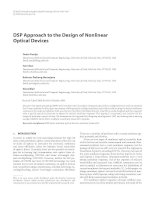 Báo cáo hóa học    DSP approach to the design of nonlinear optical devices geeta pasrija