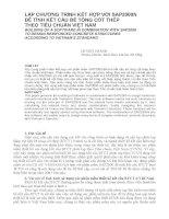 Báo cáo nghiên cứu khoa học   lập CHƯƠNG TRÌNH kết hợp với SAP2000N để TÍNH kết cấu bê TÔNG cốt THÉP THEO TIÊU CHUẨN VIỆT NAM