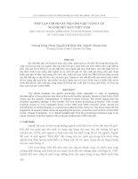 Báo cáo nghiên cứu khoa học     TIẾP cận CHUỖI GIÁ TRỊ CHO VIỆC NÂNG cấp NGÀNH dệt MAY VIỆT NAM