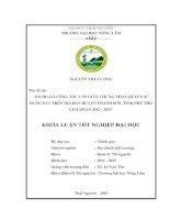 đánh giá công tác cấp giấy chứng nhận quyền sử dụng đất trên địa bàn huyện thanh sơn, tỉnh phú thọ giai đoạn 2012 đến 2014