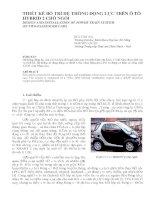 Báo cáo nghiên cứu khoa học   THIẾT kế bố TRÍ hệ THỐNG ĐỘNG lực TRÊN ô tô HYBRID 2 CHỖ NGỒI