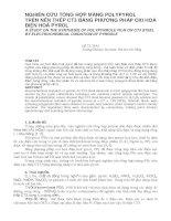 Báo cáo nghiên cứu khoa học   NGHIÊN cứu TỔNG hợp MÀNG POLYPYROL TRÊN nền THÉP CT3 BẰNG PHƯƠNG PHÁP OXI HOÁ điện HOÁ PYROL