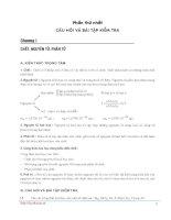 Tổng hợp kiến thức và đề kiểm tra hóa học lớp 8
