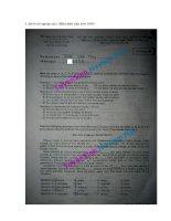 De thi tot nghiep THPT   Mon Tieng Anh nam 2011