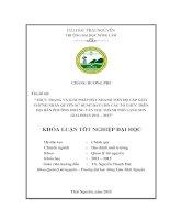 Thực trạng và giải pháp đẩy nhanh tiến độ cấp giấy chứng nhận quyền sử dụng đất cho các tổ chức trên địa bàn phường hoàng văn thụ, thành phố lạng sơn giai đoạn 2011 – 2013