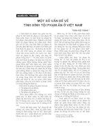 Báo cáo  một số vấn đề về tình hình tội phạm ẩn ở việt nam