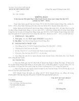Thông báo triệu tập dự Hội nghị BCH Huyện đoàn (mở rộng) lần thứ XIV