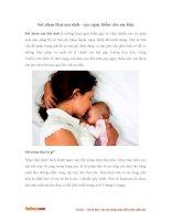Sót nhau thai sau sinh - cực nguy hiểm cho mẹ bầu