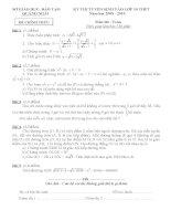 4 đề luyện thi vào lớp 10 THPT