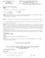 Đề HSG toán Lớp 5 lần 13