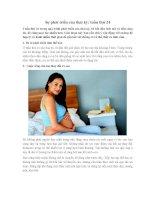 Sự phát triển của thai kỳ: tuần thứ 24