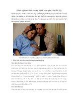 Kinh nghiệm sinh con tại Bệnh viện phụ sản Hà Nội