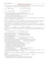 5 đề ôn thi đại học có đáp án