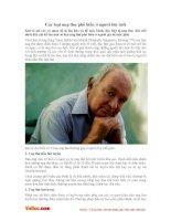 Các loại ung thư phổ biến ở người lớn tuổi