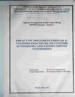 impact of implementation of e customs procedure on customs authorities and export import enterprises