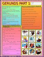 Bài tập về Danh động từ_Phần 1