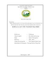 HIỆN TRẠNG QUẢN lý tài NGUYÊN SINH học tại vườn QUỐC GIA bến EN HUYỆN NHƯ THANH, TỈNH THANH hóa đến năm 2014