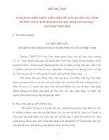 Bài thi liên môn của học sinh Biển và Hải đảo Việt Nam