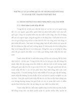 NHỮNG LÝ LUẬN TỔNG QUAN VỀ TRANH CHẤP ĐẤT ĐAI VÀ GIẢI QUYẾT TRANH CHẤP ĐẤT ĐAI