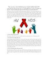 Mẹo cực hay xử lý khi không may bị phơi nhiễm bệnh HIV