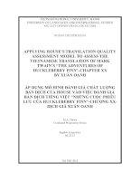 applying houses translation quality assessment model to assess the vietnamese translation of mark twain s the adventures of huckleberry finn chapter xx and its vietnamese translation