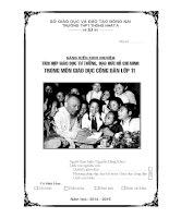 SÁNG KIẾN KINH NGHIỆM TÍCH hợp GIÁO dục tư TƯỞNG, đạo đức hồ CHÍ MINH TRONG môn GIÁO dục CÔNG dân lớp 11