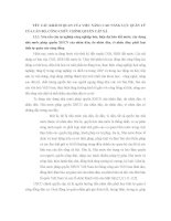 YÊU CẦU KHÁCH QUAN CỦA VIỆC NÂNG CAO NĂNG LỰC QUẢN LÝCỦA CÁN BỘ, CÔNG CHỨC CHÍNH QUYỀN CẤP XÃ