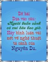 Nghe thuat ta canh Nguyen Du trong Kieu.