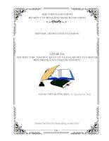 TÌM HIỂU VIỆC TỔ CHỨC QUẢN LÝ VÀ GIẢI QUYẾT VĂN BẢN ĐI,ĐẾN TRONG CÁC CƠ QUAN-TỔ CHỨC