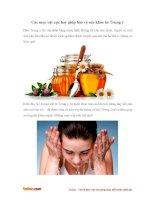 Các mẹo vặt cực hay giúp bảo vệ sức khỏe từ Trung y