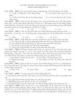 Bài tập dao động cơ trong đề thi CĐĐH 20072015
