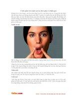 Cách giảm béo mặt cực kỳ đơn giản và hiệu quả