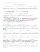 đề thi dại học vật lý 1