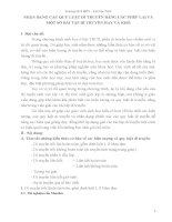 NHẬN DẠNG các QUY LUẬT DI TRUYỀN BẰNG các PHÉP LAI và một số bài tập DI TRUYỀN HAY và KHÓ