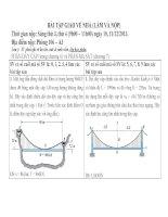 Bài tập cơ lý thuyết cơ bản