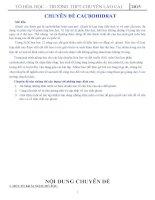 Báo cáo khoa học các trường chuyên CHUYÊN đề CACBOHIDRAT