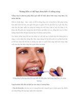 Những điều có thể bạn chưa biết về niềng răng