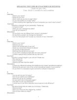 Tổng hợp 28 đề thi nói tiếng Anh B2  (SPEAKING TEST FOR B2)