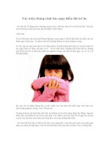 Các triệu chứng cảnh báo nguy hiểm khi trẻ ho