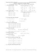 Bài tập giải tích 11