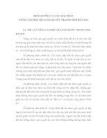 ĐỊNH HƯỚNG VÀ CÁC GIẢI PHÁP NÂNG CAO HIỆU QUẢ GIẢI QUYẾT TRANH CHẤP ĐẤT ĐAI