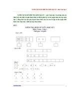 Tuyển tập các đề thi giữa kì môn toán lớp 1