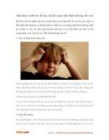 Dấu hiệu cảnh báo bố mẹ cần bổ sung chất dinh dưỡng cho con