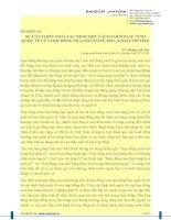 SỰ CẦN THIẾT PHẢI XÁC ĐỊNH MỘT CÁCH CHÍNH XÁC TÍNH QUỐC TẾ CỦA HỢP ĐỒNG MUA BÁN HÀNG HÓA NGOẠI THƯƠNG