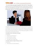 Các câu hỏi thường gặp trong phần 2 bài thi IELTS Speaking