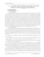 skkn rèn kỹ NĂNG GIẢI bài TOÁN BẰNG CÁCH lập PHƯƠNG TRÌNH CHO học SINH KHỐI 8, 9