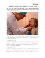 Những thói quen nhất thiết phải dạy trẻ để không bị ốm