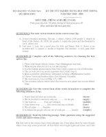 Tuyển tập đề thi tốt nghiệp môn Tiếng Anh từ năm 2002  2015