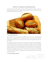 Bánh mì với những tác hại không thể ngờ