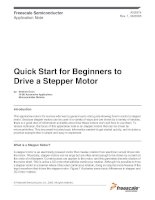 Quick Start for Beginners to Drive a Stepper Motor